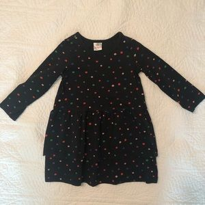 Hanna Andersson Dress Black with Colored PolkaDots